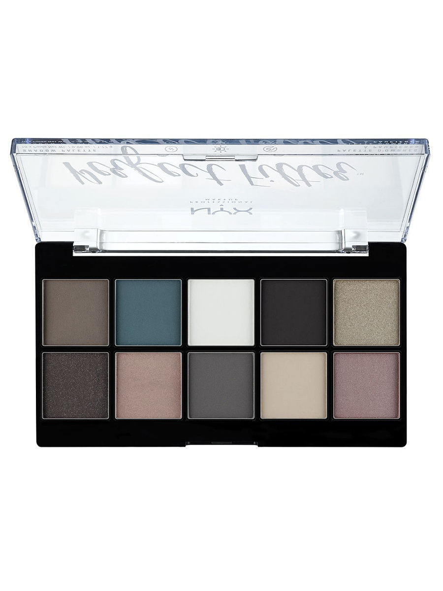 Тени NYX PROFESSIONAL MAKEUP Палетка теней. PERFECT FILTER SHADOW PALETTE - GLOOMY DAYS 04 тени nyx professional makeup палетка теней perfect filter shadow palette golden hour 01