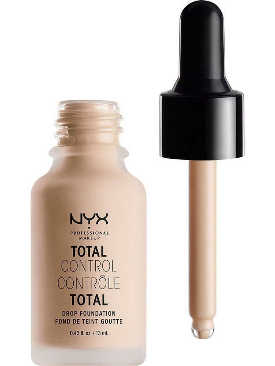 Тональные кремы NYX PROFESSIONAL MAKEUP Стойкая тональная основа TOTAL CONTROL DROP FOUNDATION - PORCELAIN 03 nyx professional makeup матирующая тональная основа stay matte not flat liquid foundation light beige 015