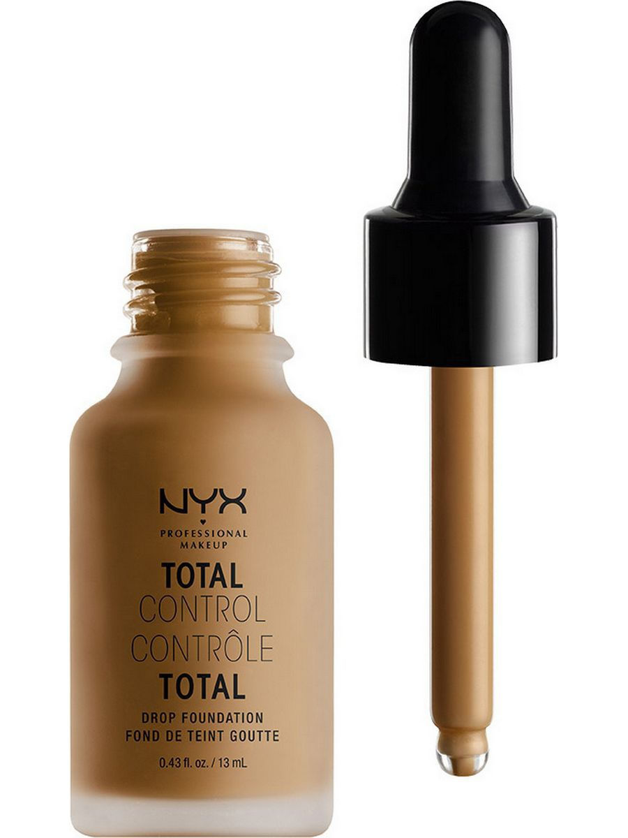 Тональные кремы NYX PROFESSIONAL MAKEUP Стойкая тональная основа TOTAL CONTROL DROP FOUNDATION - CAPPUCCINO 17 nyx professional makeup матирующая тональная основа stay matte not flat liquid foundation light beige 015