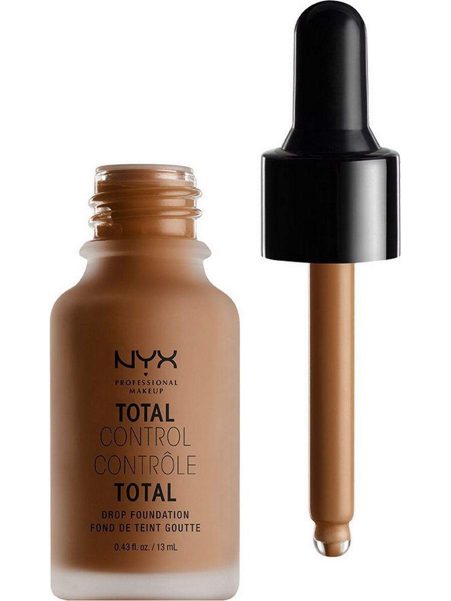 Тональные кремы NYX PROFESSIONAL MAKEUP Стойкая тональная основа TOTAL CONTROL DROP FOUNDATION - MOCHA 19 nyx professional makeup матирующая тональная основа stay matte not flat liquid foundation light beige 015
