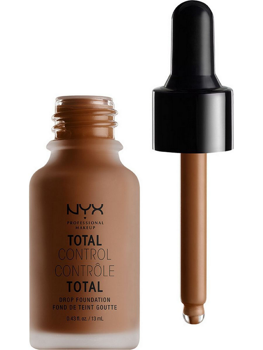 Тональные кремы NYX PROFESSIONAL MAKEUP Стойкая тональная основа TOTAL CONTROL DROP FOUNDATION - COCOA 21 nyx professional makeup матирующая тональная основа stay matte not flat liquid foundation light beige 015