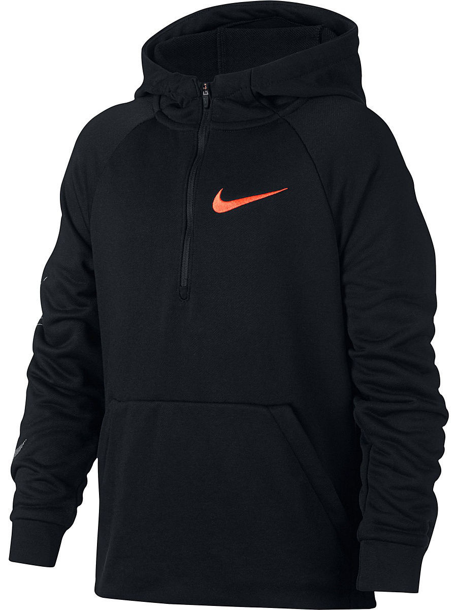 Худи Nike Худи B NK DRY HOODIE QZ FLC GFX свитшоты nike свитшот dri fit training crew gfx