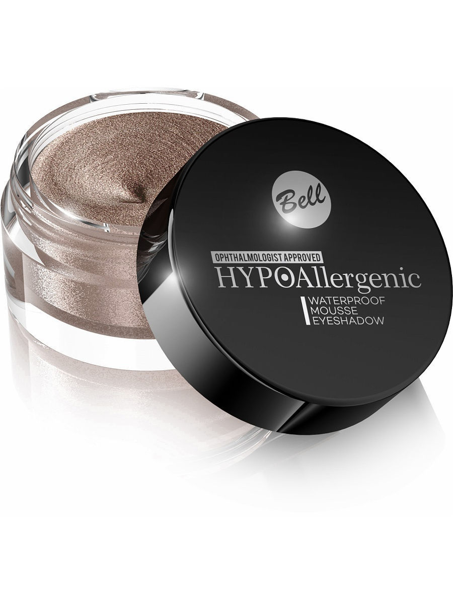 Тени Bell Bell Hypoallergenic кремовые тени для век Waterproof Mousse Eyeshadow Тон 01 тени для век essence тени хайлайтер hi lighting eyeshadow mousse 01 цвет 01 hi ivory variant hex name fdece4