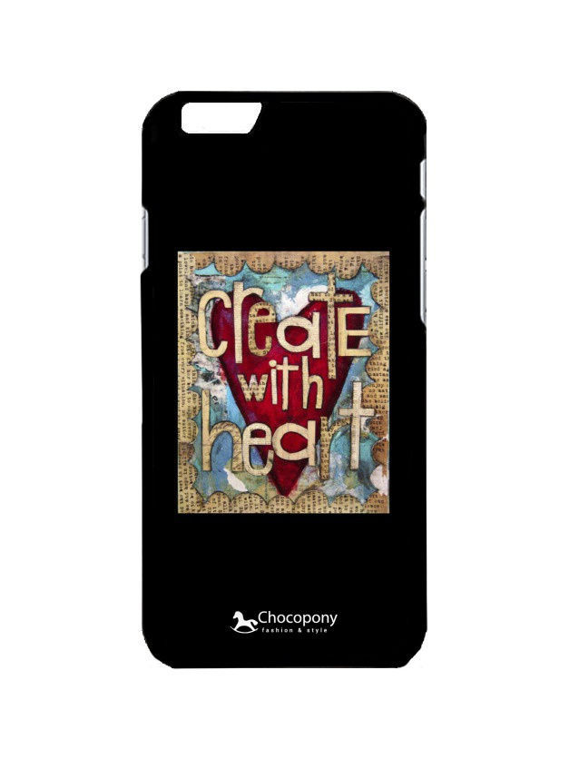 Чехлы для телефонов Chocopony Чехол для iPhone 6/6s Create with heart Арт. Black6-086 пижама серая 086 sylwia розовый s 44