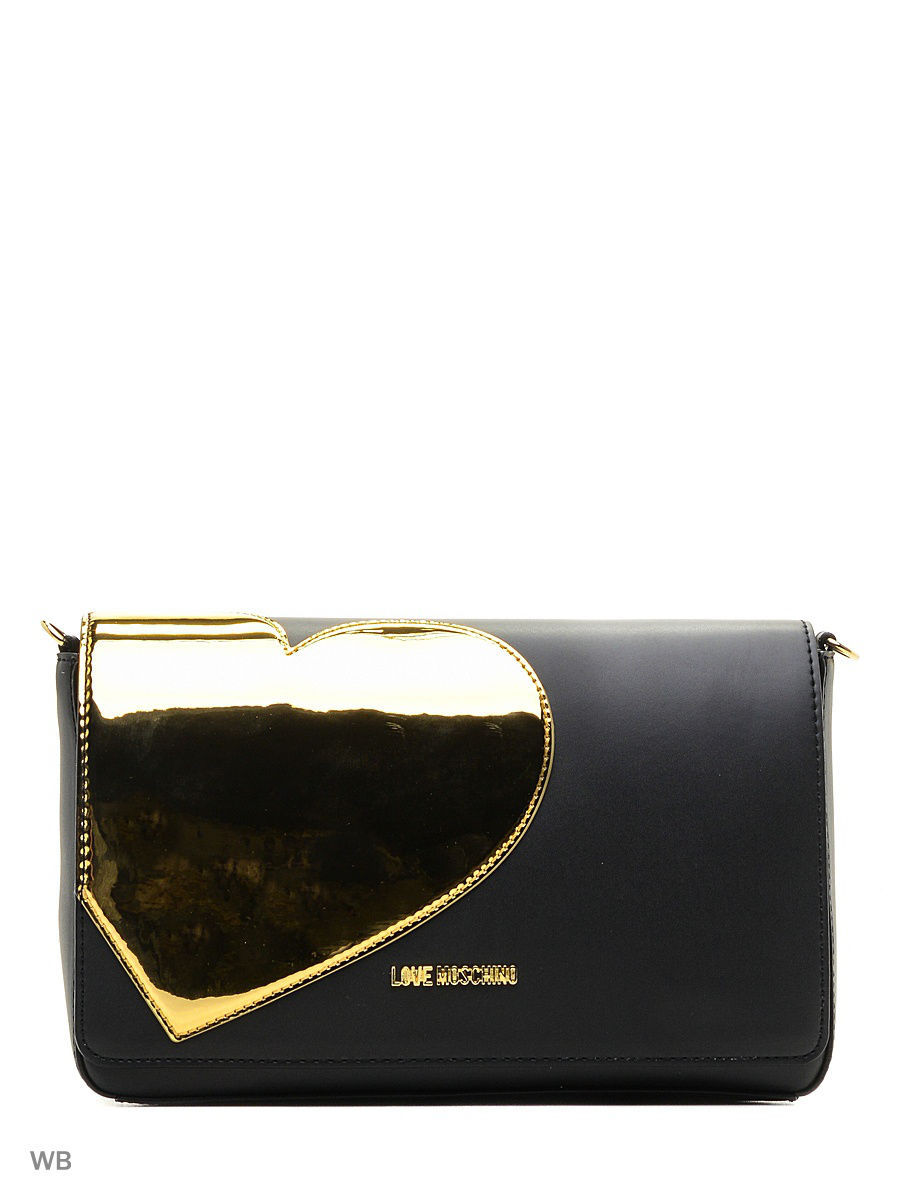 Большая сумка Love Moschino JC4036PP14LD200B/BLACK+GOLD