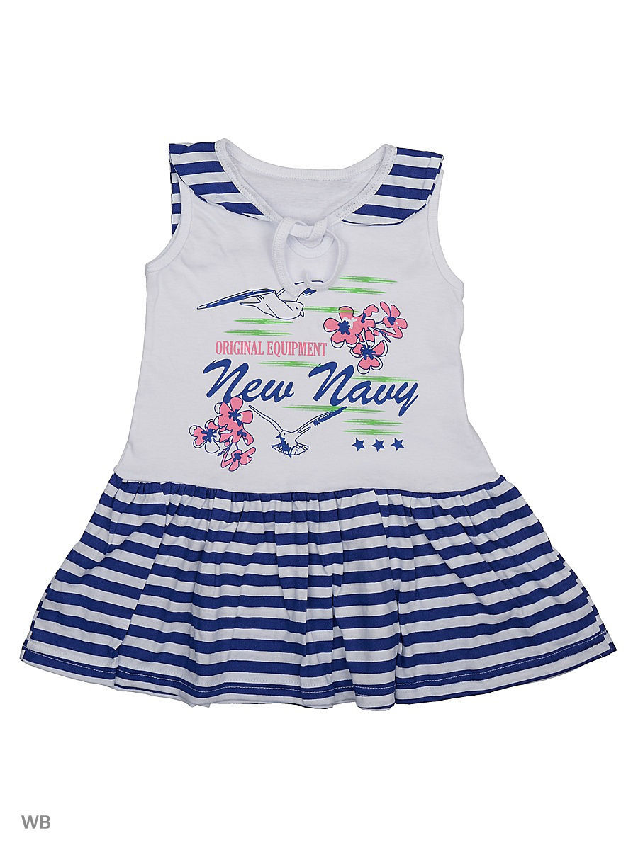 Платье Babycollection 21Baby-613/d/белый,синий