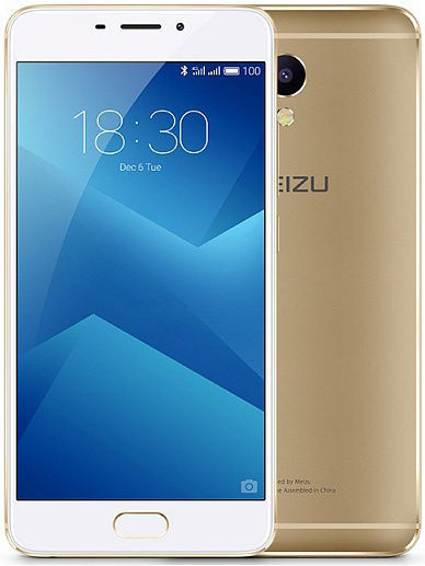 Смартфон Meizu M5 Note 16Gb (M621H-16-GOWH), золотой