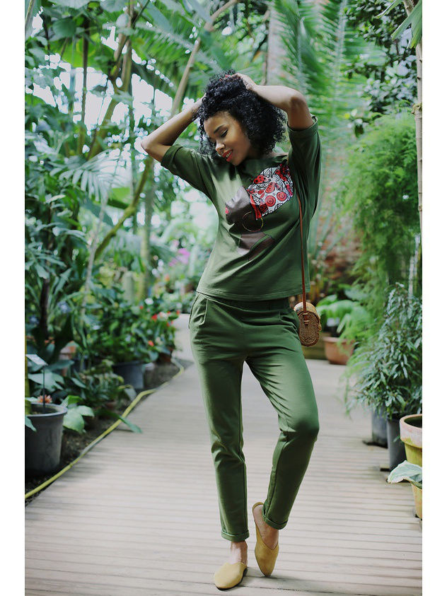 Костюм Fashion.Love.Story. 17SS9018KHNN/хакипринтафриканка