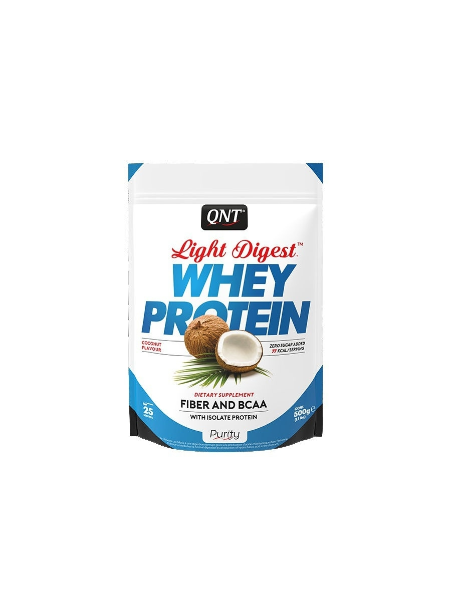 Протеин QNT Протеин Light Digest Whey Protein (кокос) 500 гр