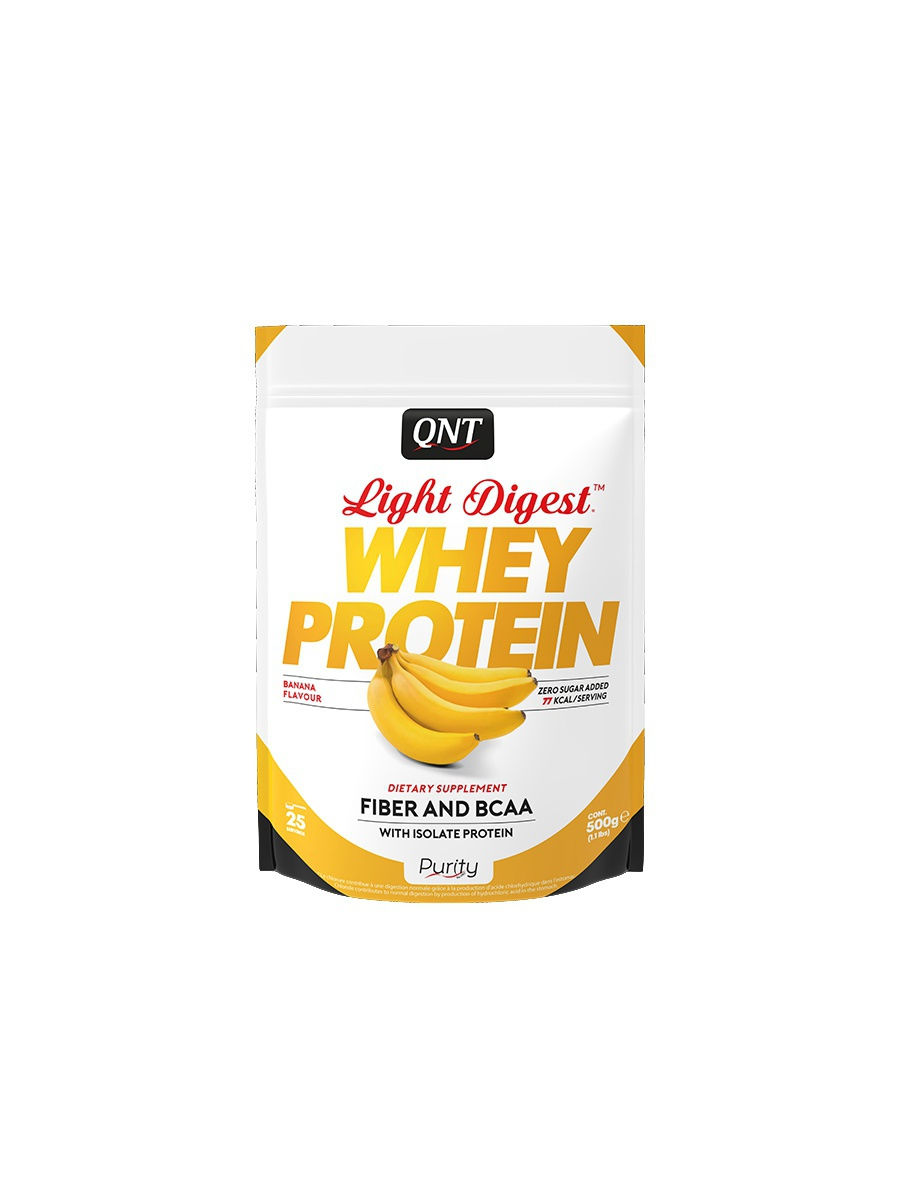 Протеин QNT Протеин Light Digest Whey Protein (банан) 500 гр