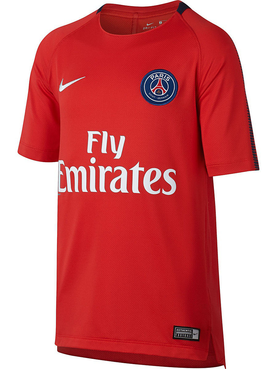 Футболка Nike Футболка PSG Y NK BRT SQD TOP SS psg paris saint germain bordeaux