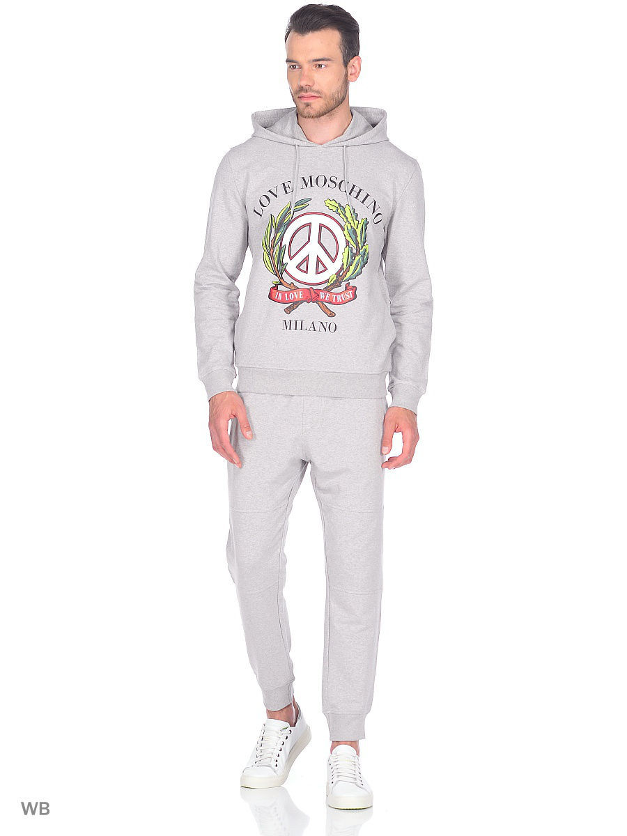 Толстовка Love Moschino M649202E1774A688/MEL.LIGHTGRAY