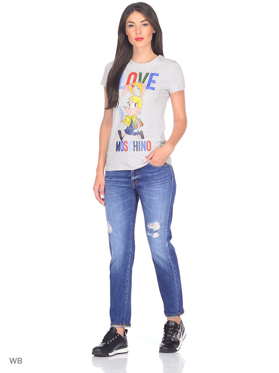 Футболка Love Moschino W4F7317E1512A688/MEL.LIGHTGRAY