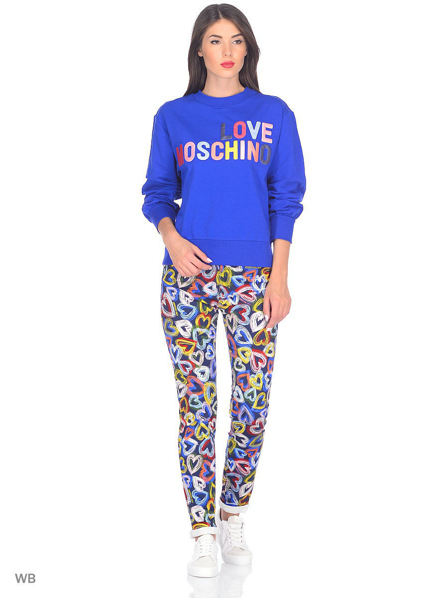 Толстовка Love Moschino W632501E1774Y50/blue