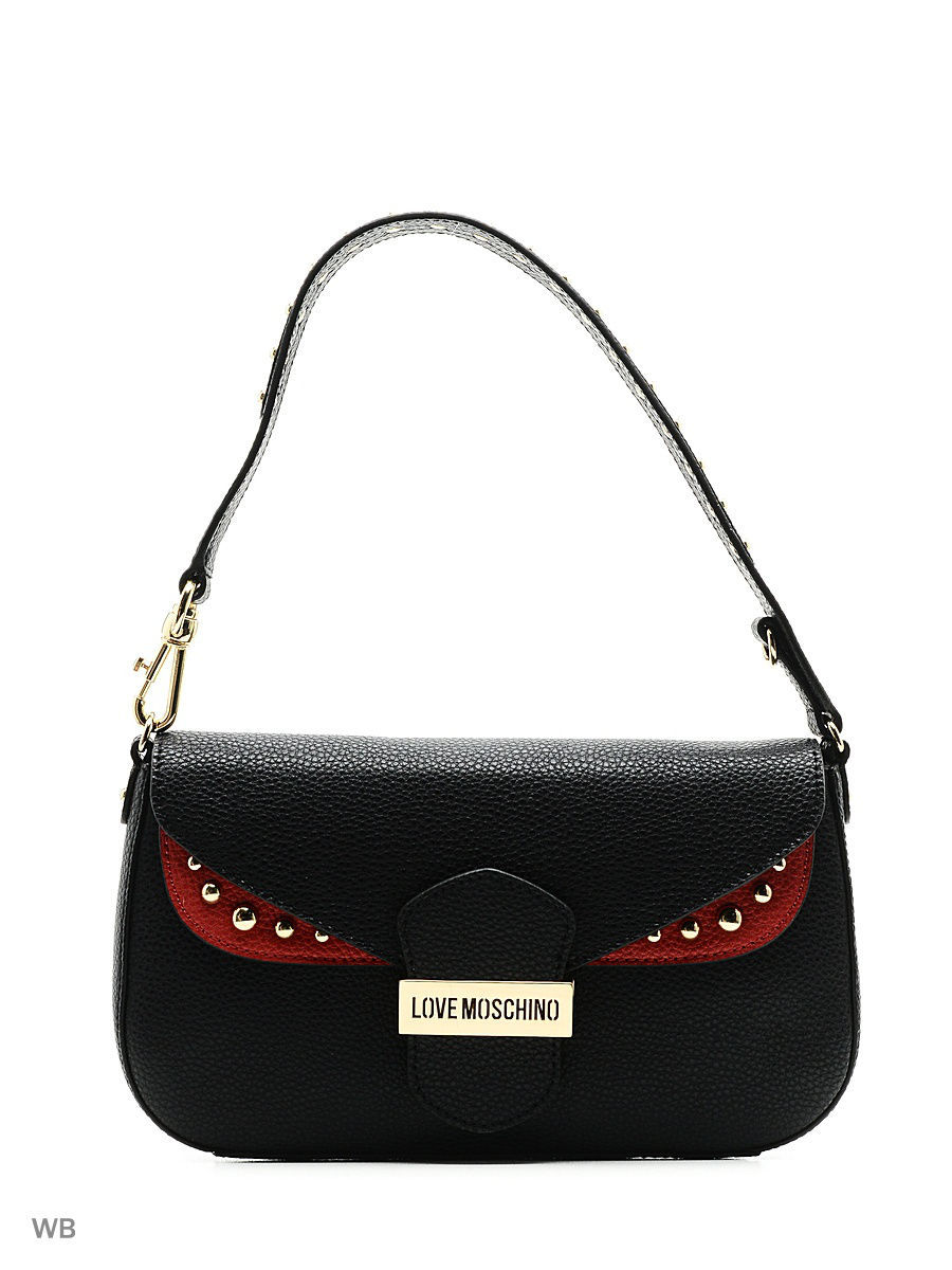Большая сумка Love Moschino JC4068PP14LI100A/black+red