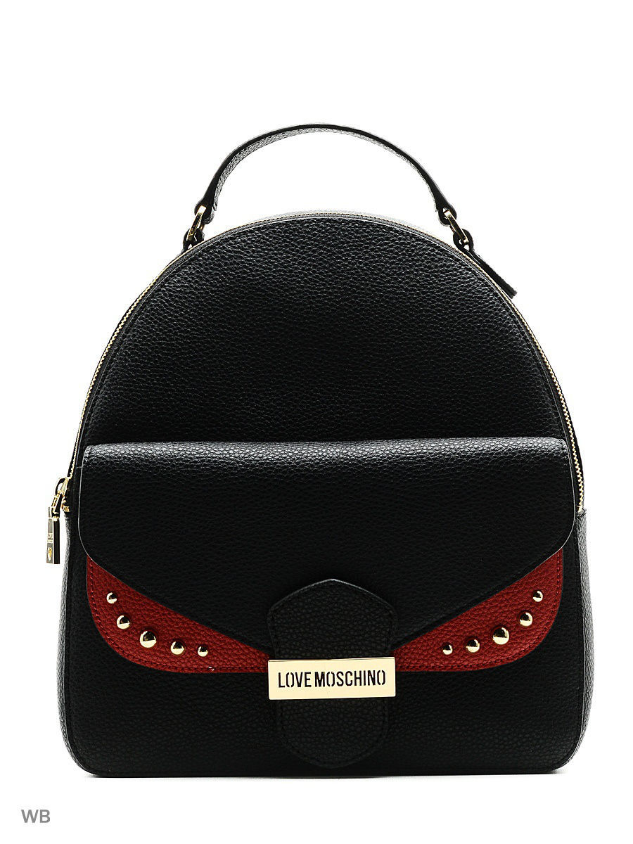 Большая сумка Love Moschino JC4071PP14LI100A/black+red