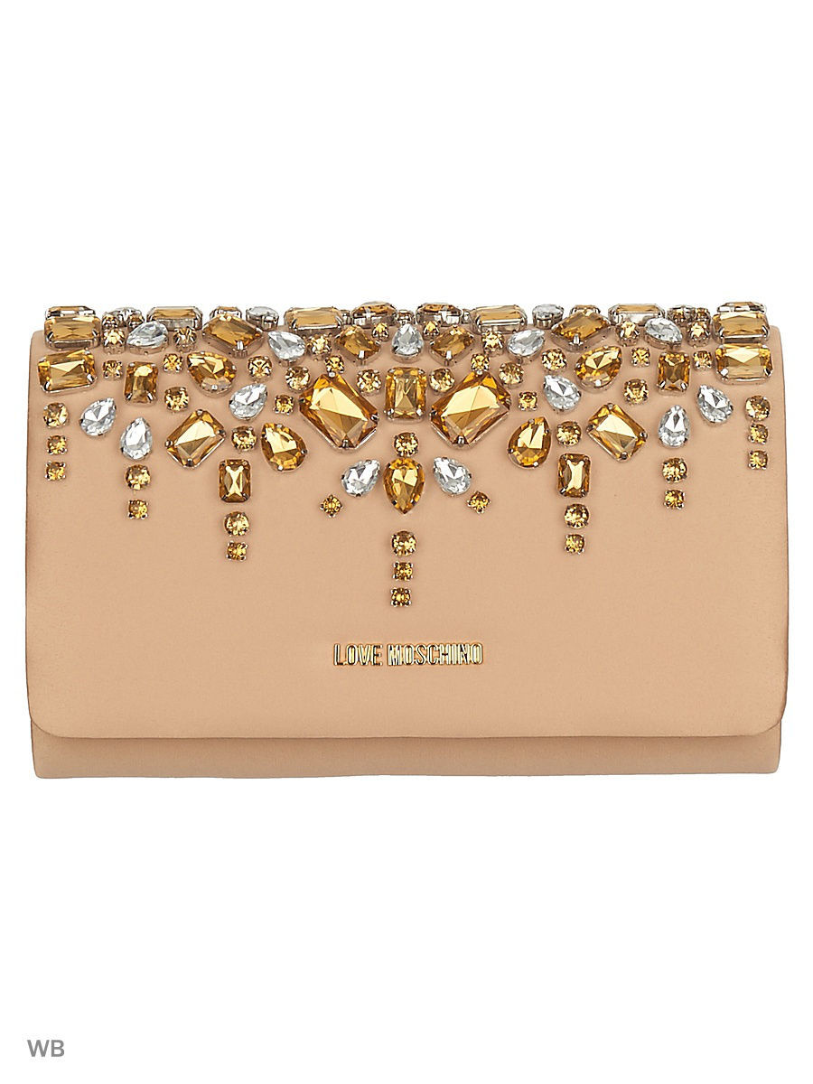 Клатч Love Moschino JC4128PP14LW0123/CHAMPAGNE+gold
