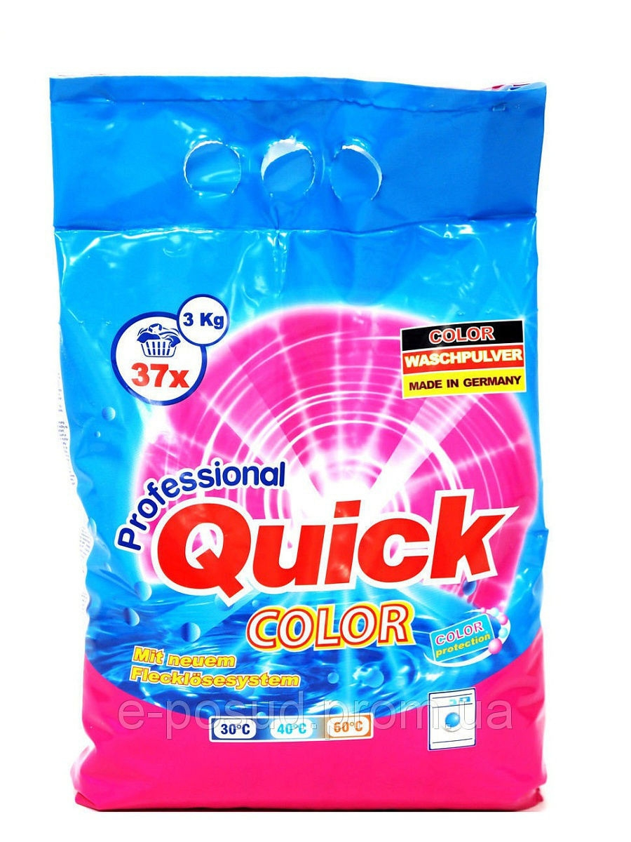 Стиральные порошки QUICK Стиральный порошок QUICK Color, 3,0 кг quick source lotus freelance graphics millennium edition 9 0 quick source guide
