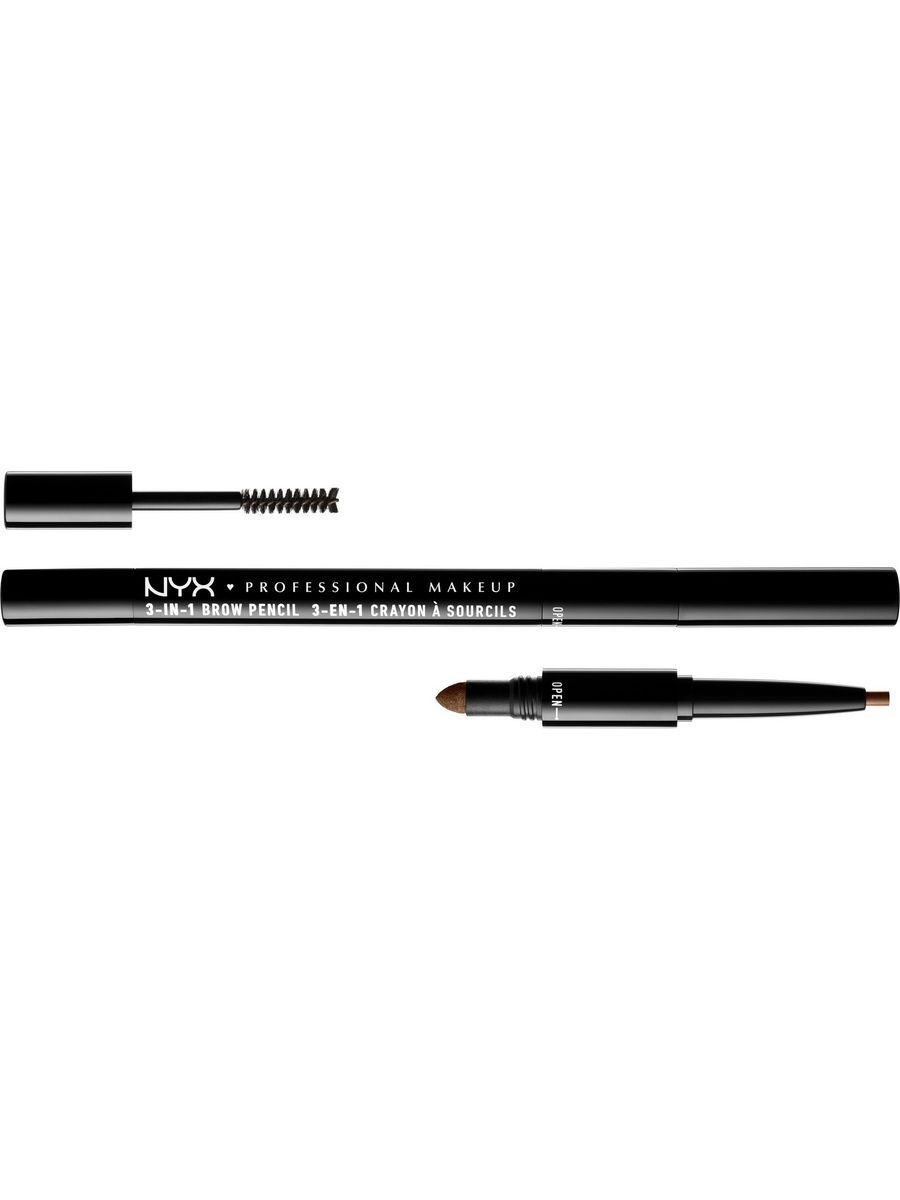 Косметические карандаши NYX PROFESSIONAL MAKEUP Карандаш для бровей 3 в 1 3 IN 1 BROW PENCIL - SOFT BROWN 3103 карандаш для бровей touch in sol brow expert bar 2 цвет 02 brownie brown variant hex name 2c1a0c