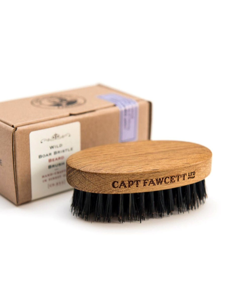 Расчески CAPTAIN FAWCETT Щетка для бороды Captain Fawcett Wild Boar Bristle Brush (CF.933) macadamia boar bristle paddle brush
