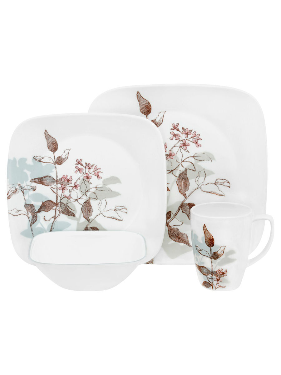 Сервизы столовые Corelle Набор посуды Twilight Grove 16предметов corelle набор посуды shadow iris 16 пр