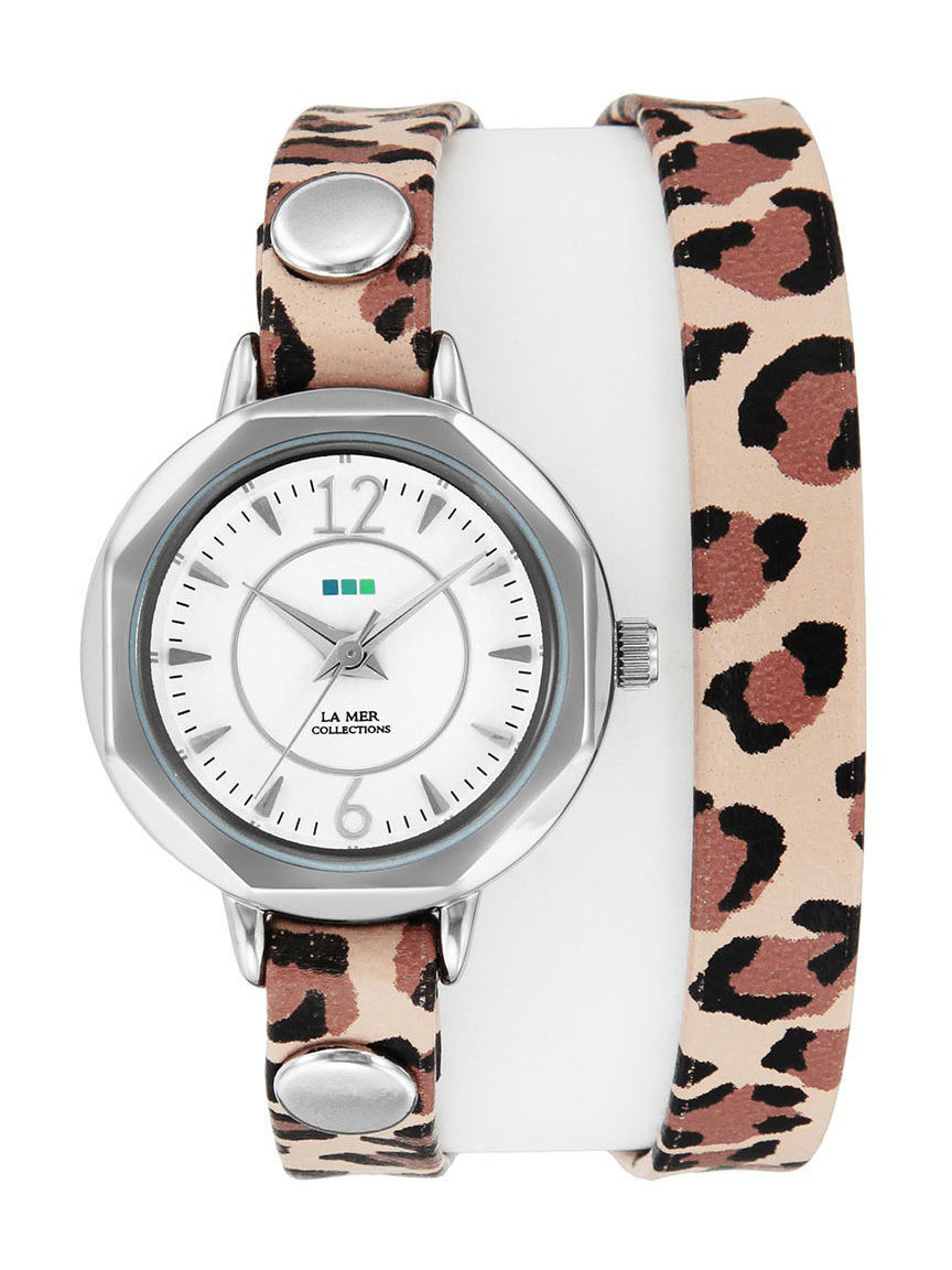 Часы наручные La Mer Collections Часы La Mer Collections Del Mar Retro Leopard - Silver