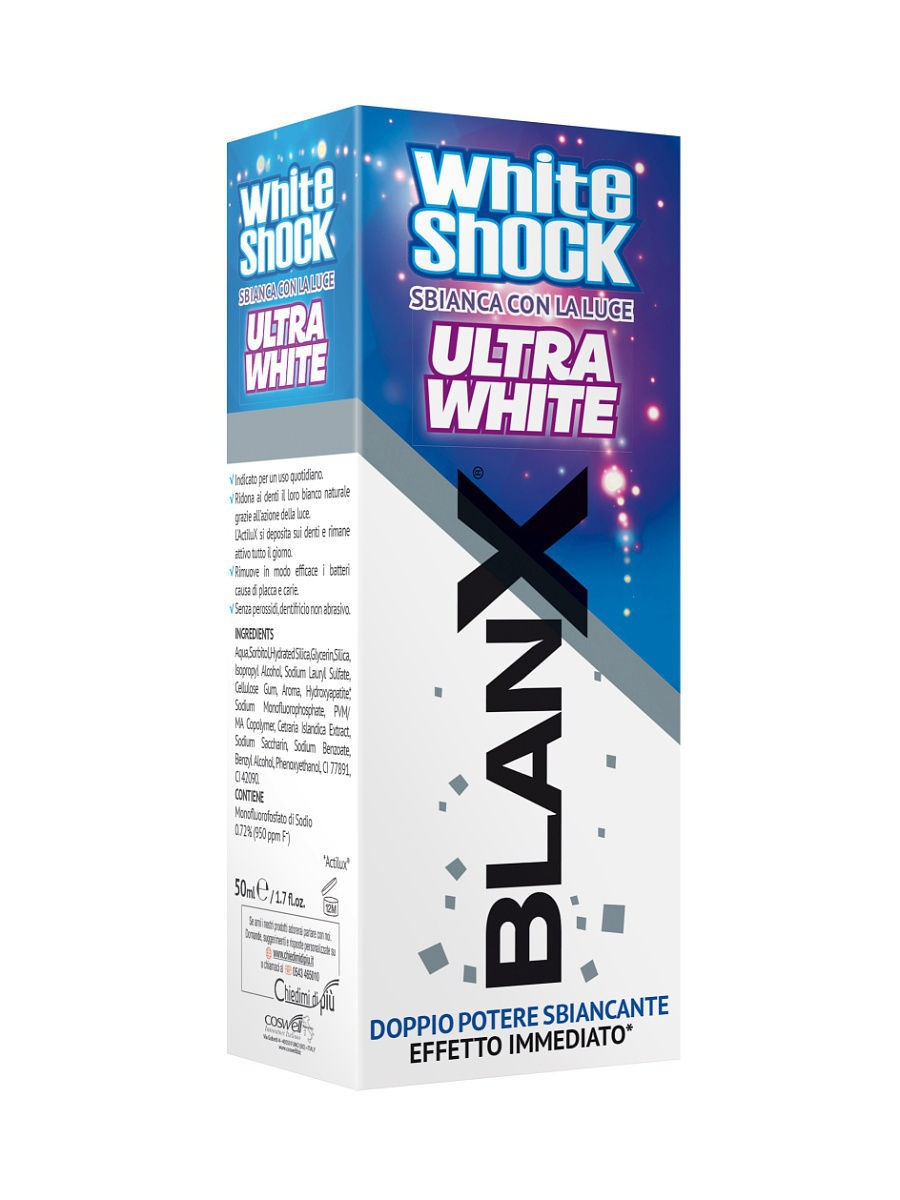 Зубные пасты BLANX Зубная паста Бланкс Вайт Шок Ультра Вайт BlanX White Shock Ultra White р а ромашов блэк энд вайт black and white