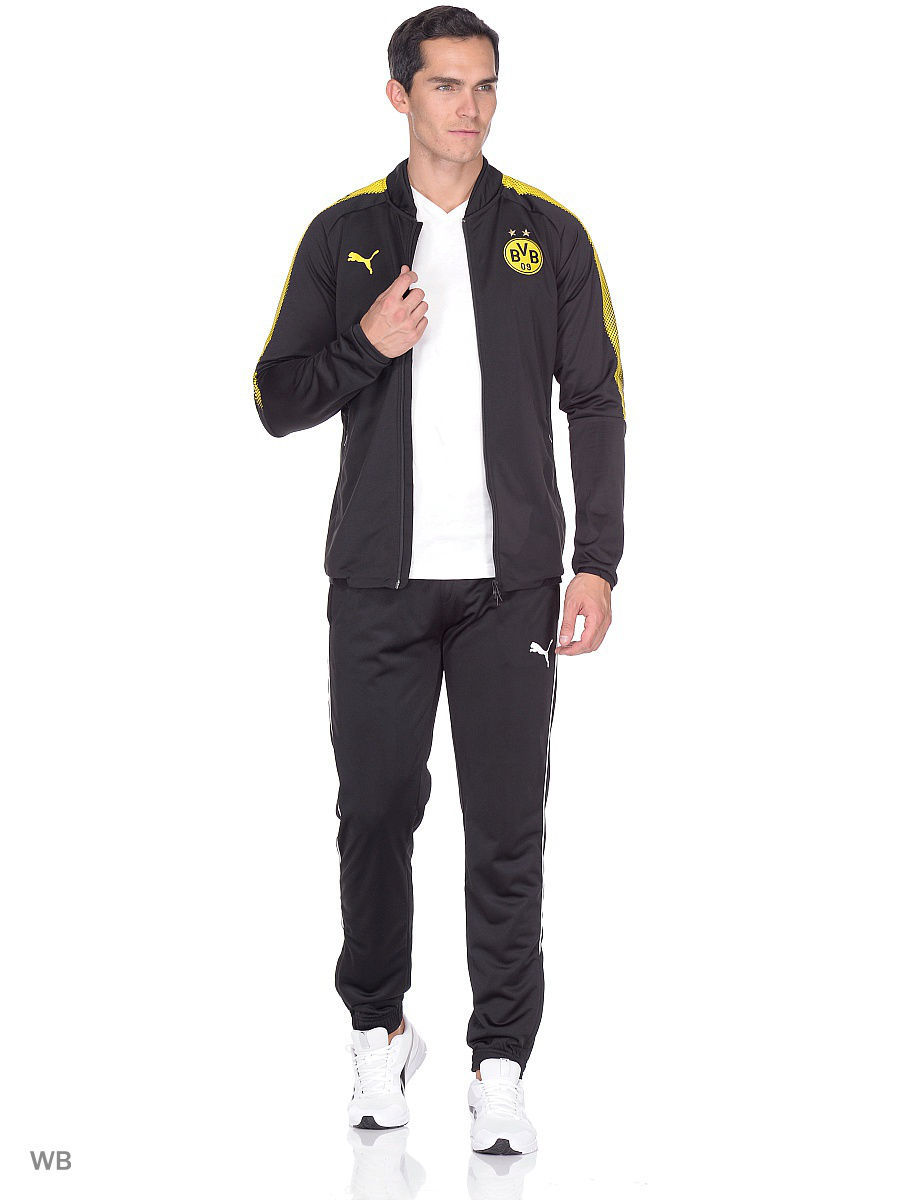 Толстовки PUMA Толстовка BVB Poly Jacket with 2 side pockets with zip бомберы puma бомбер bvb stadium jacket with sp