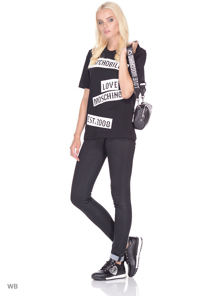 Футболка Love Moschino W4F1543M3517C74/BLACK
