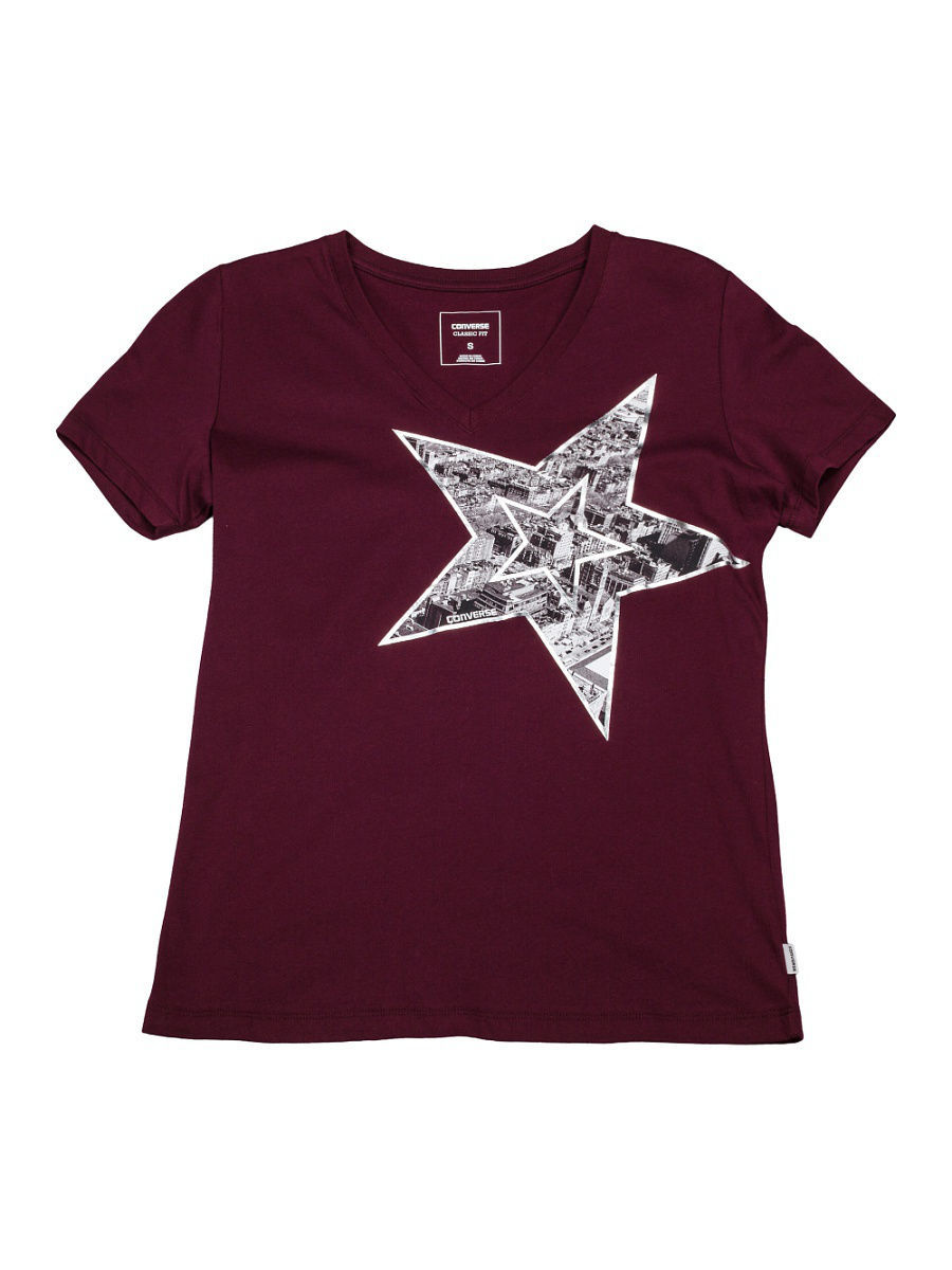 Футболка Converse Футболка Metallic Star Photo Fill Vneck Tee