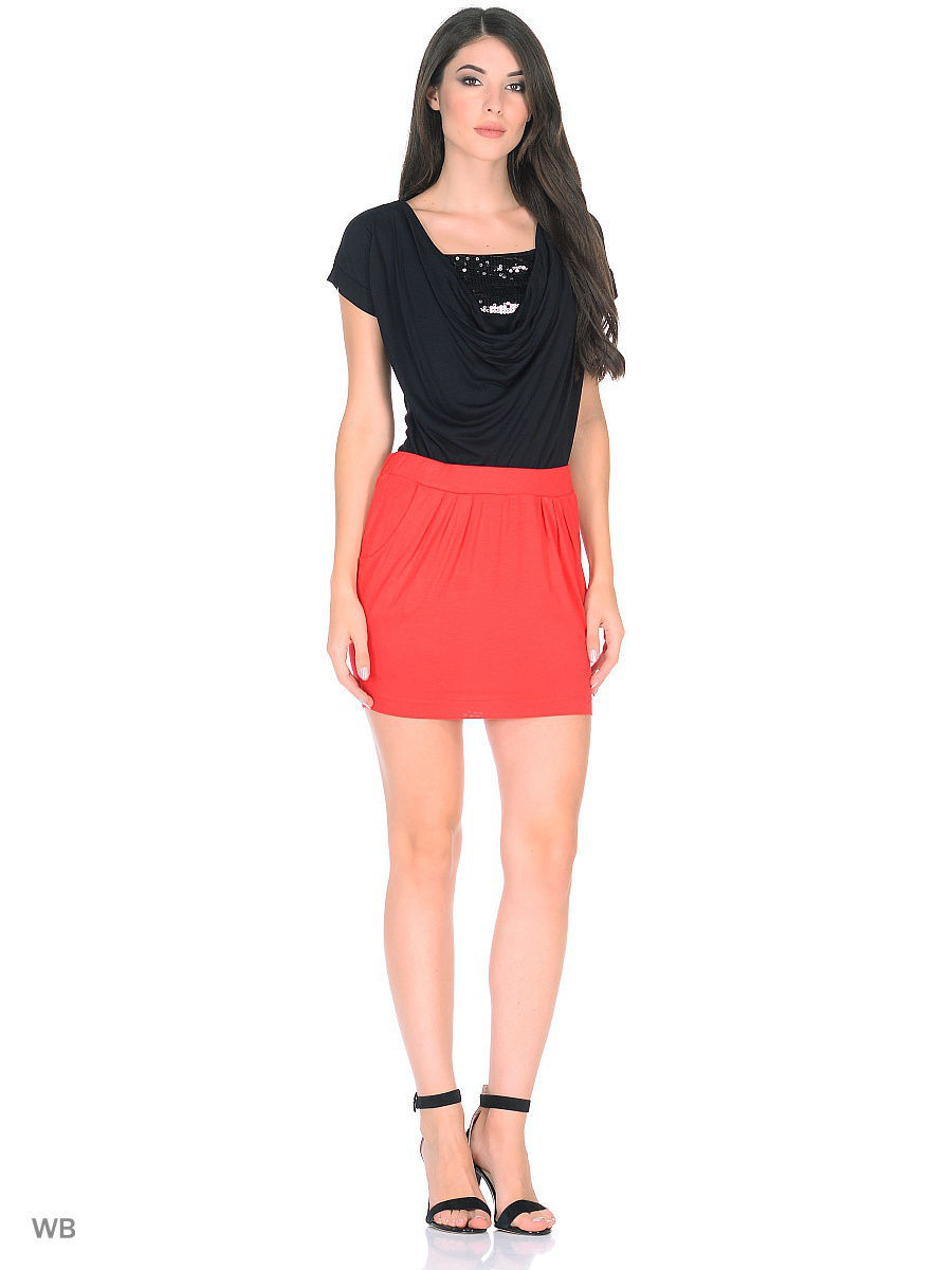 Мини-юбка Punk Queen SKIRT1-RED