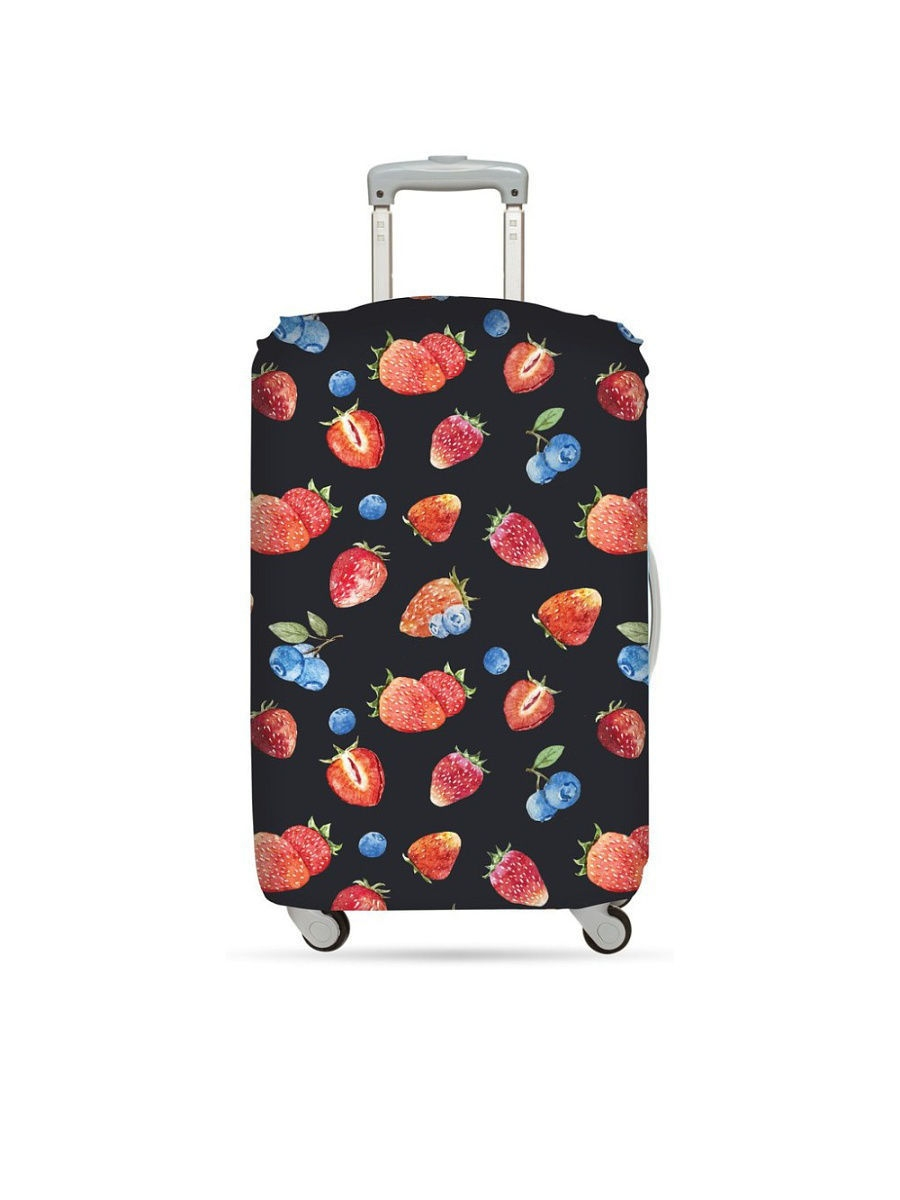 Чехол для чемодана LOQI LUGGAGE COVER M - JUICY Strawberries