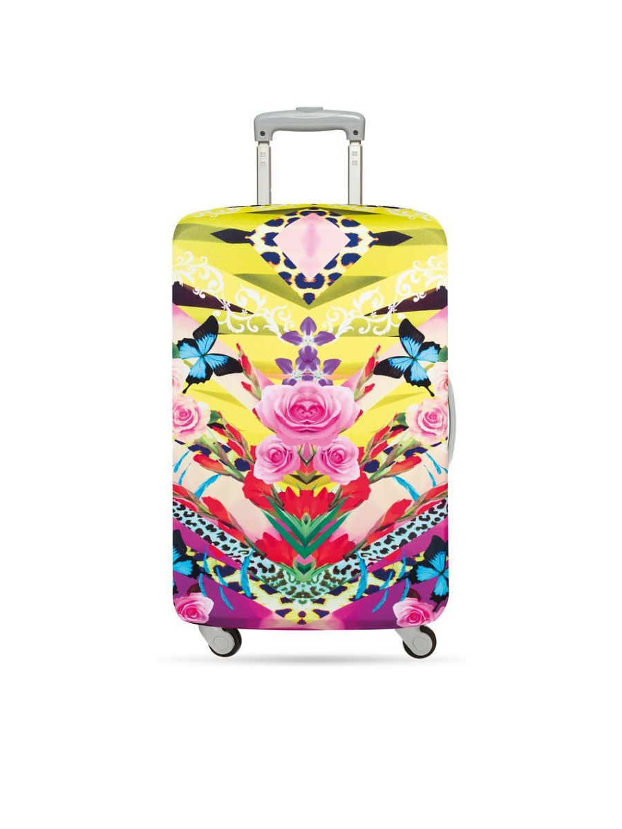 Чехол для чемодана LOQI LUGGAGE COVER M - SHINPEI NAITO Flower Dream