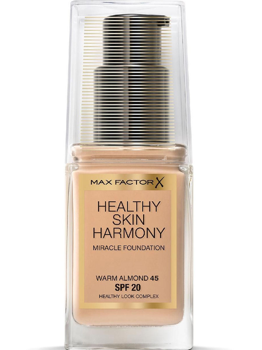Тональные кремы MAX FACTOR Max Factor Тональная Основа Healthy Skin Harmony Miracle Foundation Ж Товар Тон 45 warm almond max factor основа под макияж lasting perfomance 109 тон 35 мл