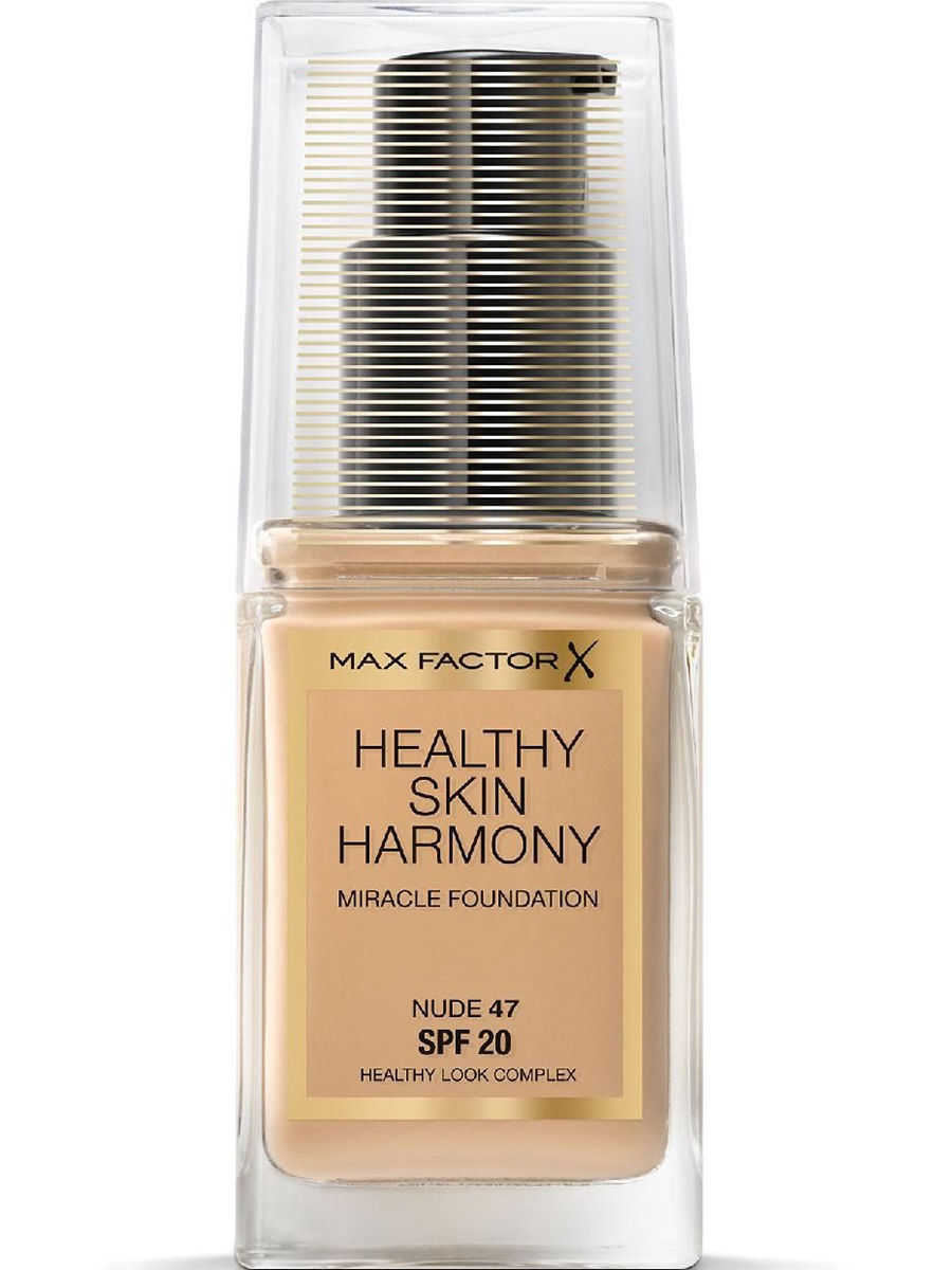 Тональные кремы MAX FACTOR Max Factor Тональная Основа Healthy Skin Harmony Miracle Foundation Ж Товар Тон 47 nude max factor основа под макияж lasting perfomance 109 тон 35 мл