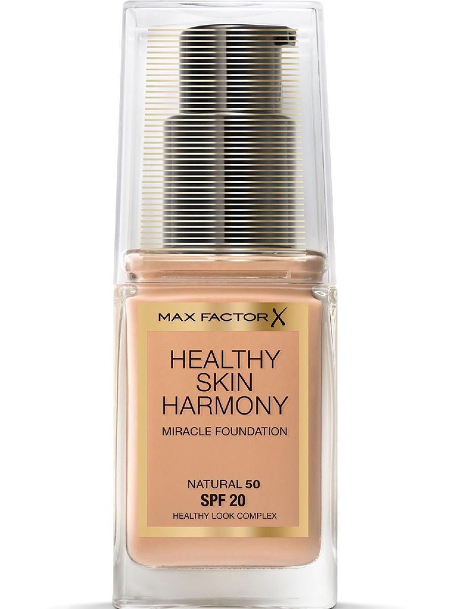 Тональные кремы MAX FACTOR Max Factor Тональная Основа Healthy Skin Harmony Miracle Foundation Ж Товар Тон 50 natural max factor основа под макияж lasting perfomance 109 тон 35 мл