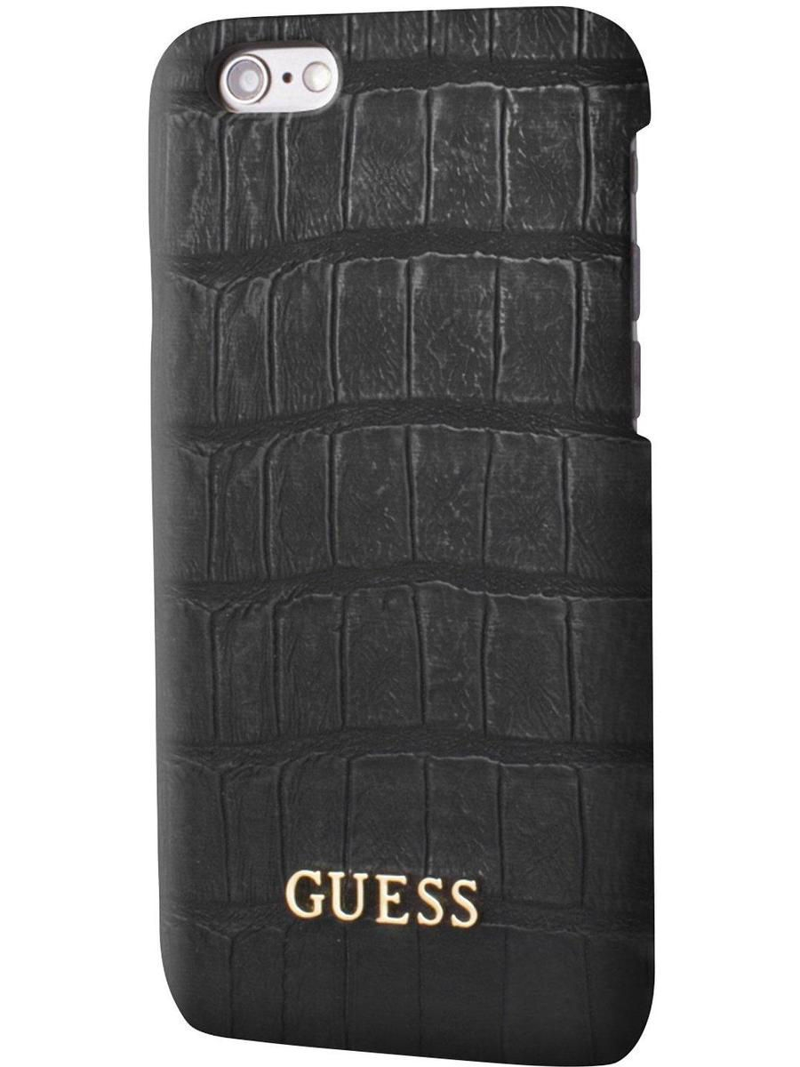 Чехлы для телефонов GUESS Чехол Guess для iPhone 7 Croco Hard PU Black