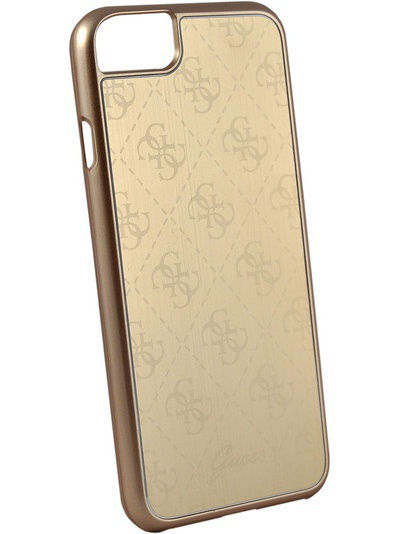 Чехлы для телефонов GUESS Чехол Guess для iPhone 7 4G Aluminium plate Hard Gold guess gu460bmvzj50
