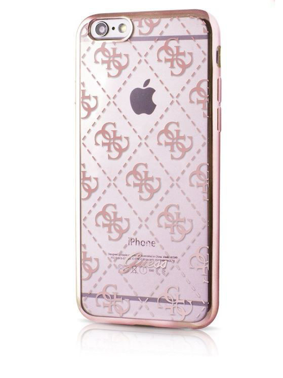 Чехлы для телефонов GUESS Чехол Guess для iPhone 5S/SE 4G TRANSPARENT Hard TPU Rose gold guess sc49 13670 rose