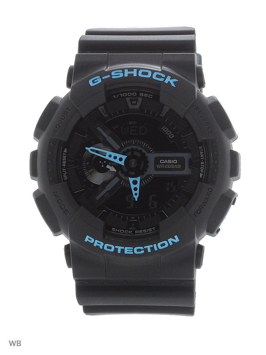 Часы наручные CASIO Часы G-Shock GA-110LN-1A часы casio g shock ga 110mb 1a black