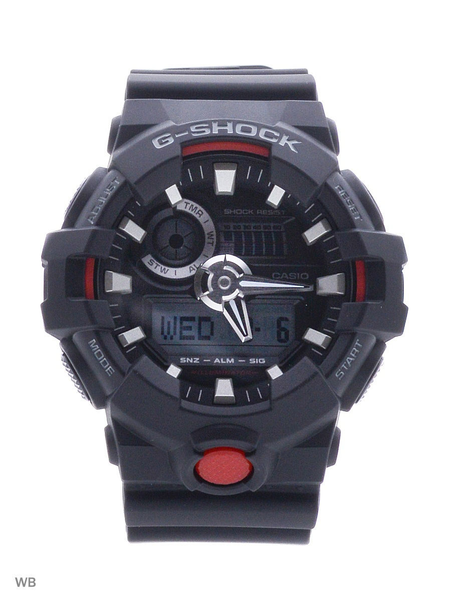 Часы наручные CASIO Часы G-Shock GA-700-1A casio g shock ga 800 1a