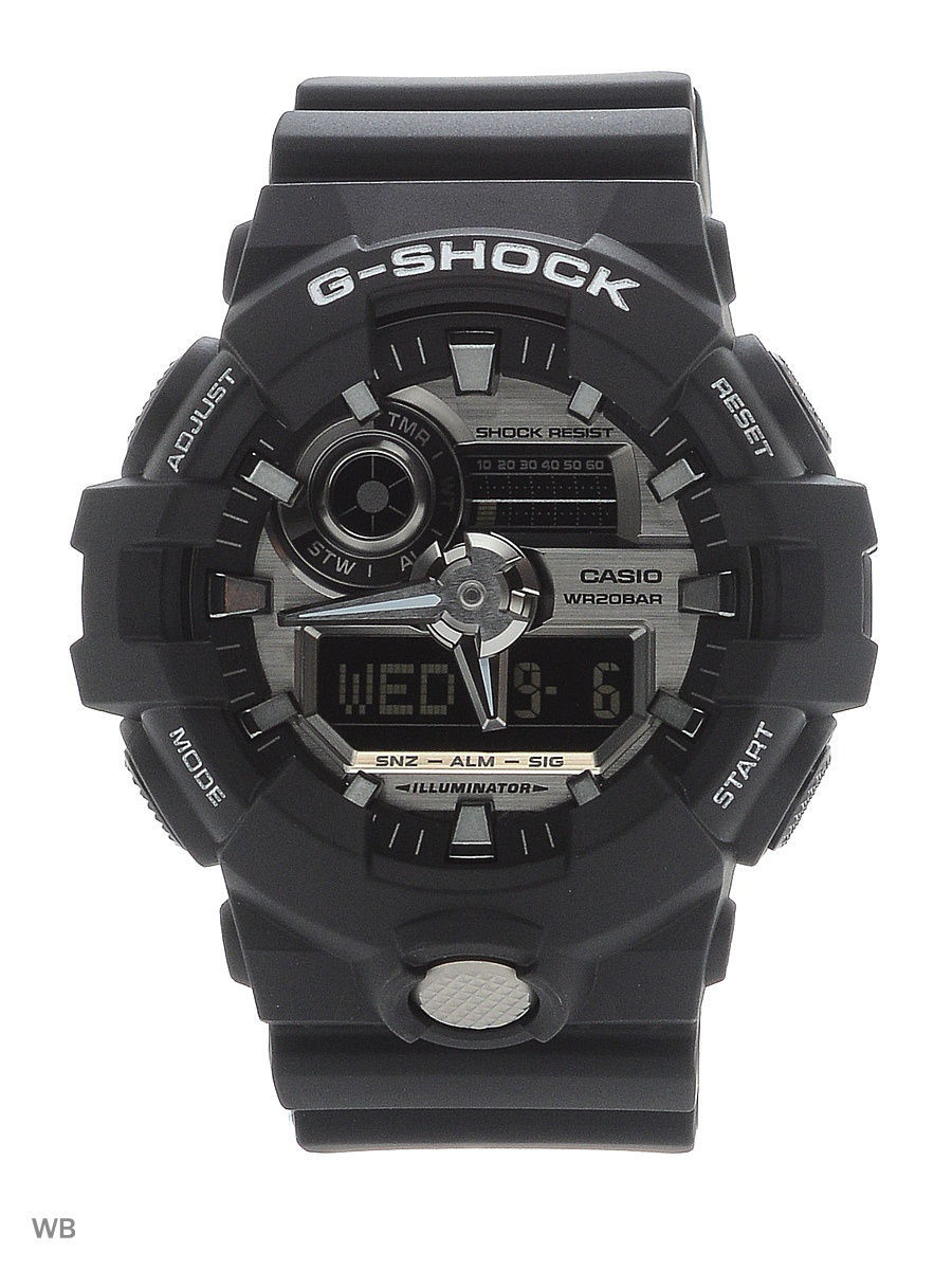 Часы наручные CASIO Часы G-Shock GA-710-1A часы casio g shock ga 110mb 1a black
