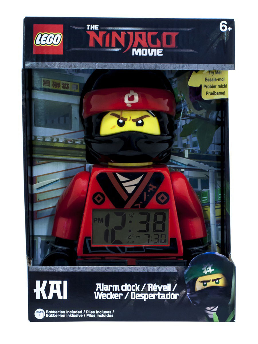 Часы настольные Lego. Часы настольные Ninjago Movie (Лего Фильм: Ниндзяго) минифигура Kai (2017) тетради lego тетрадь 100 листов линейка lego ninjago movie лего фильм ниндзяго размер 19х24 7 см