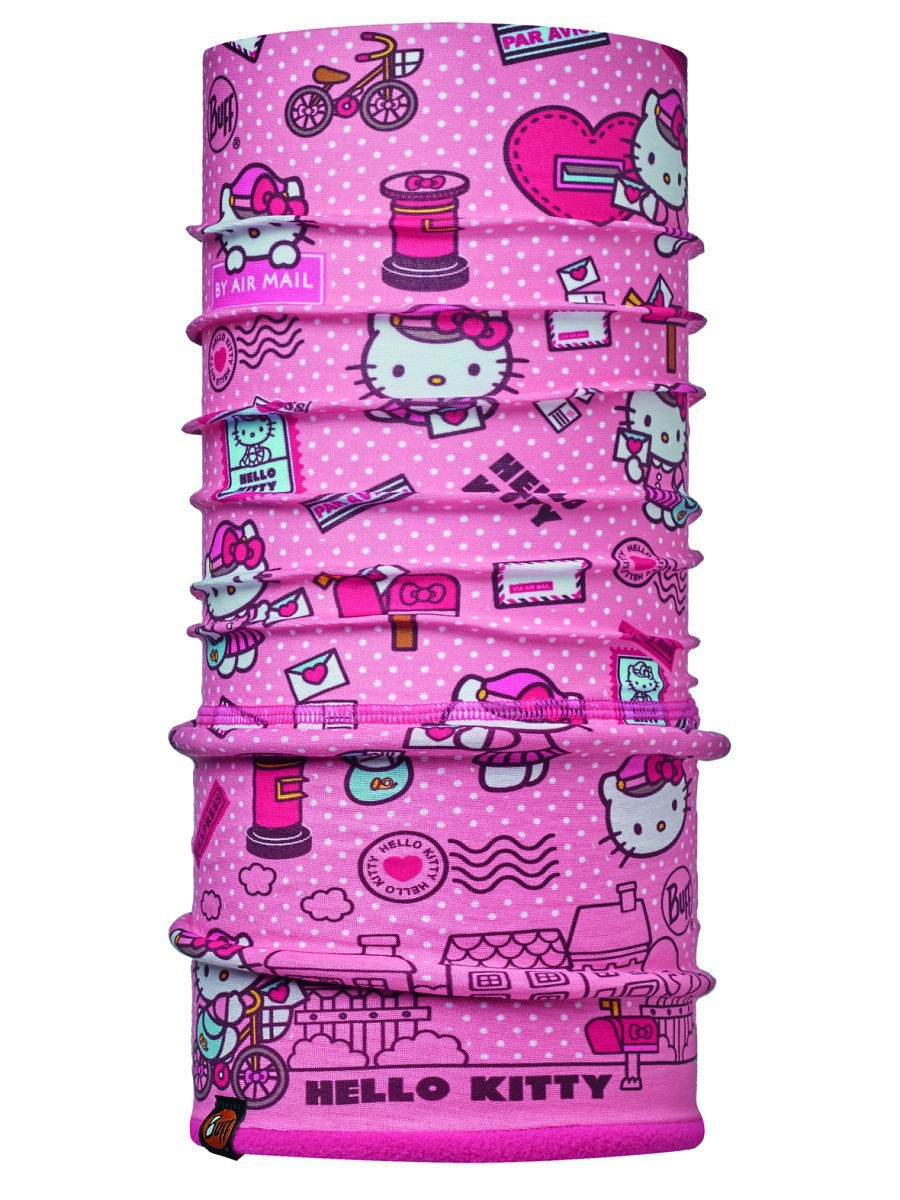 Банданы Buff Бандана HELLO KITTY CHILD POLAR MAILING ROSE / DRAGON FRUIT  buff raspberry rose