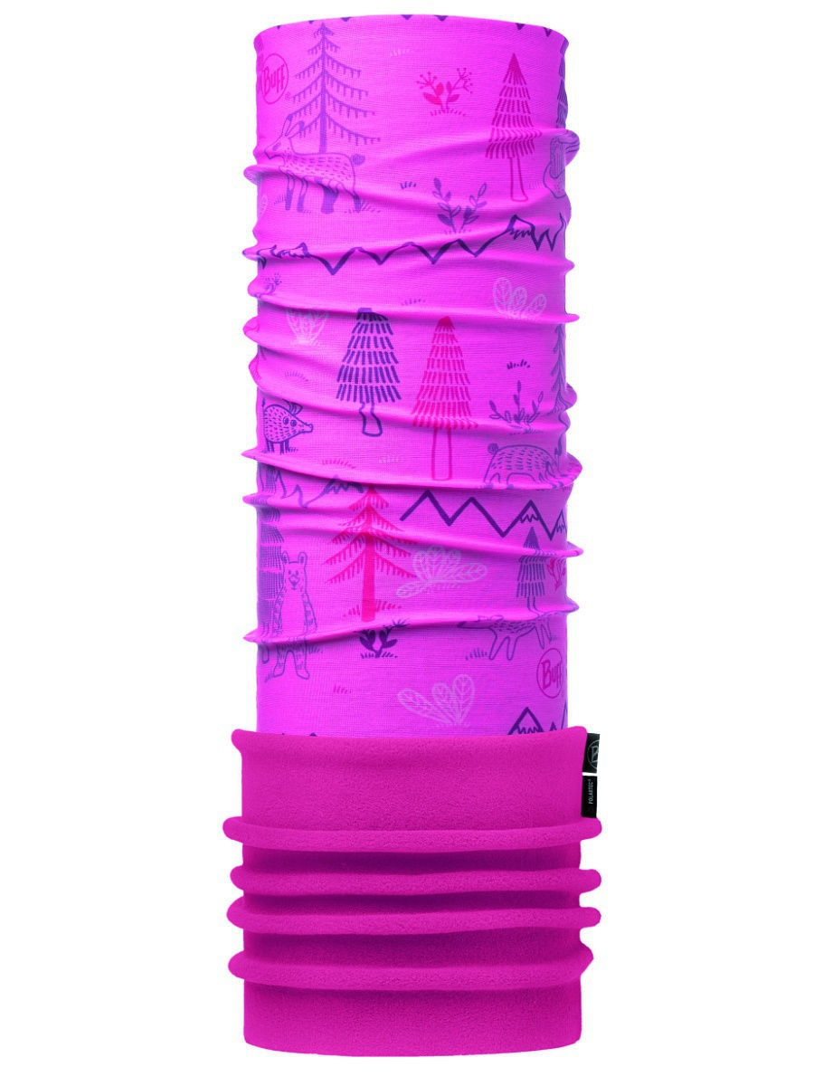 Банданы Buff Бандана BABY POLAR WOODS PINK / DRAGON FRUIT polar loop 2 pink