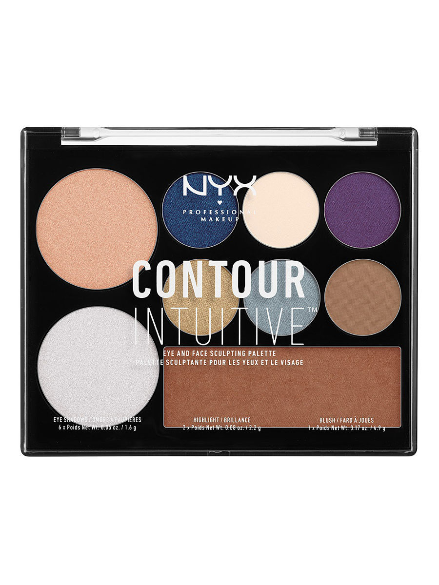 Тени NYX PROFESSIONAL MAKEUP Палетка теней и иллюминаторов. CONTOUR INTUITIVE PALETTE - JEWEL QUEEN 04 тени nyx professional makeup палетка теней perfect filter shadow palette golden hour 01