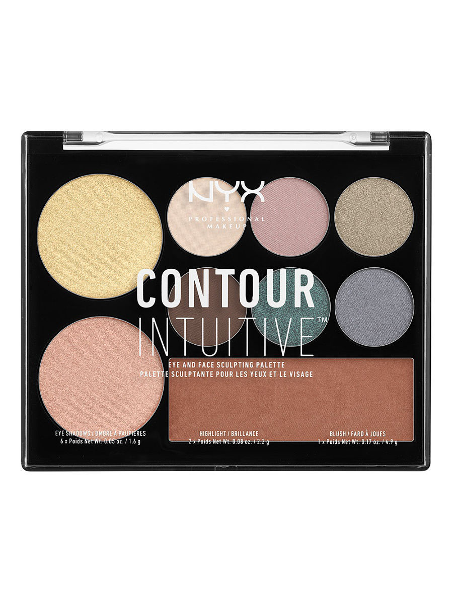 Тени NYX PROFESSIONAL MAKEUP Палетка теней и иллюминаторов. CONTOUR INTUITIVE PALETTE - SMOKE & PEARLS 05 тени nyx professional makeup палетка теней perfect filter shadow palette olive you 03