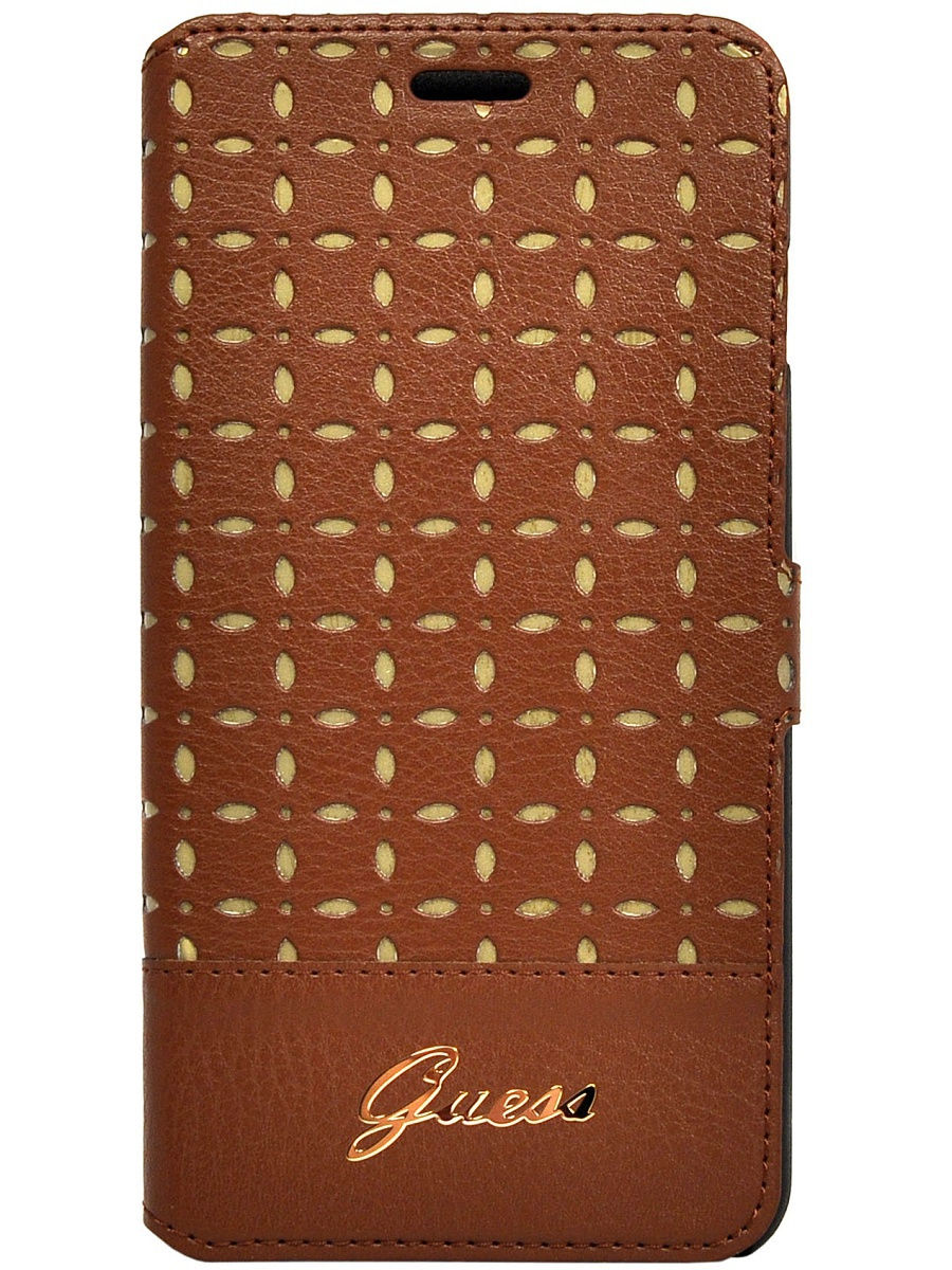 Чехлы для телефонов GUESS Чехол Guess для iPhone 6 Plus/6S Plus Gianina Booktype Cognac чехол для iphone 6 лондон в красках