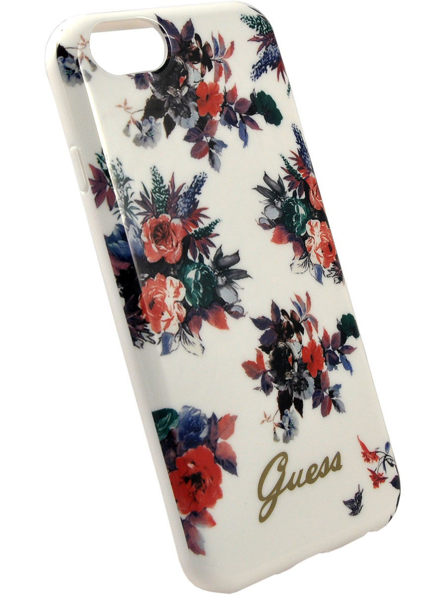 Чехлы для телефонов GUESS Чехол Guess для iPhone 6/6S BLOSSOM Hard TPU White guess gu460bmvzj50