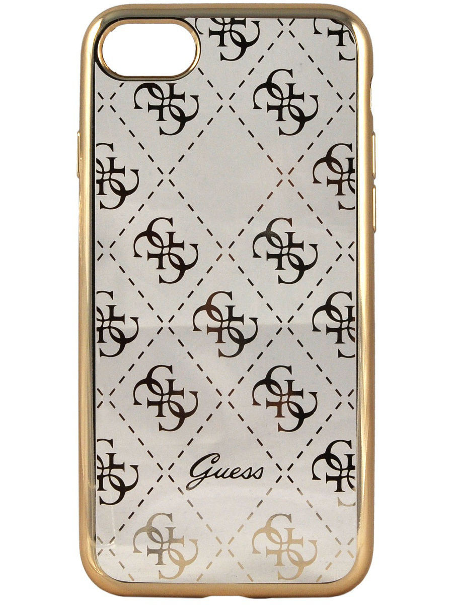 Чехлы для телефонов GUESS Чехол Guess для iPhone 7 4G Transparent Hard TPU Gold чехлы для телефонов guess чехол guess для iphone 7 8 flower desire 4g hard pu roses grey
